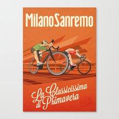 Milan San Remo cycling classic Canvas Print
