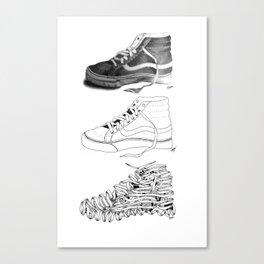 3 SHOES by Emmanuelle O'Bryan Canvas Print