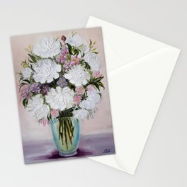 Flowers in a vase Stationery Cards