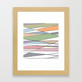 Intersecting Lines Framed Art Print