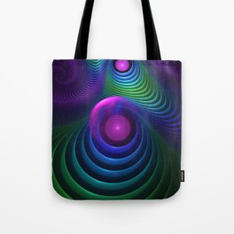 Beautiful Rainbow Marble Fractals in Hyperspace Tote Bag