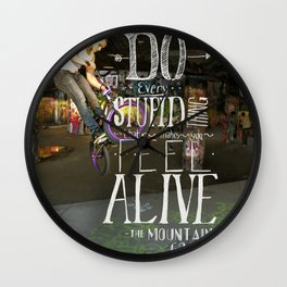 Do Stupid Things - Mountain Goats Wall Clock