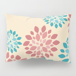 Flower Flurries Beige Pillow Sham