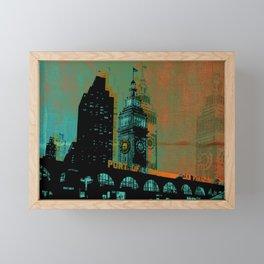 San Francisco Ferry Building  Framed Mini Art Print