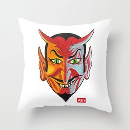 Devil's Advocate Throw Pillow