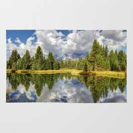 The Grand Tetons Panorama Rug