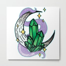 Emerald Moon Metal Print
