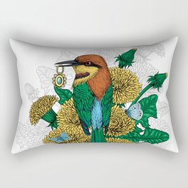 The bee eater with the golden pendant Rectangular Pillow