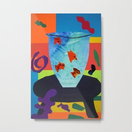 Henri Matisse - Gold Fish still life portrait from the Cut-Outs Collection Metal Print