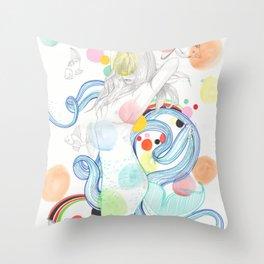 The Siren Throw Pillow