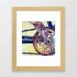 Bicycle Crank Framed Art Print