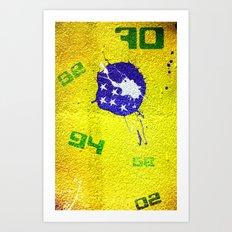 Brazil World Cup Art Print