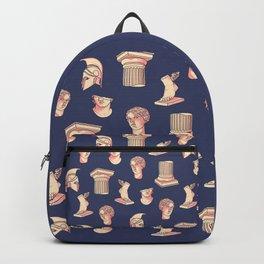 Greek classical statues pattern Backpack