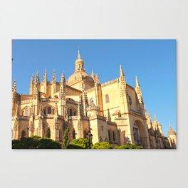 Segovia's cathedral Canvas Print