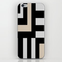 Black and Tan and Gray iPhone Skin