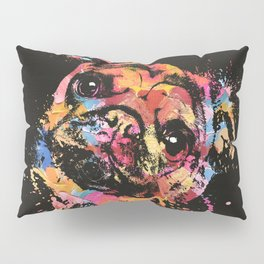 Pastel Paint Pug dog Pillow Sham