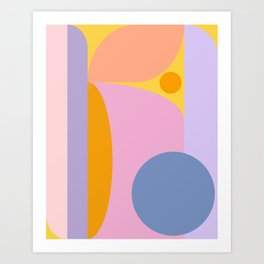 Pink and Lavender 01 Art Print