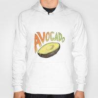 avocado Hoodies featuring Avocado by Ken Coleman