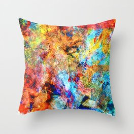 abstract drawing by hand oil paints. background, texture Throw Pillow
