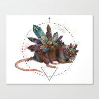 rat Canvas Prints featuring Rat by Emma Black