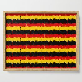 Dresden Germany Skyline Flag Repeating German Flag Fed, Gold and Black Colors Serving Tray