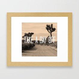 day off cactus Framed Art Print