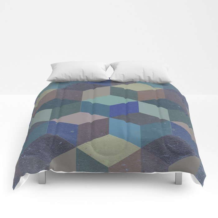 Dimension in blue Comforters