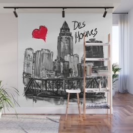 I love Des Moines Wall Mural