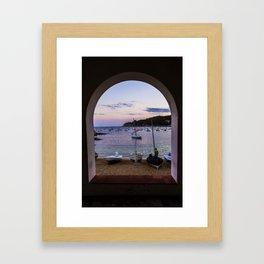 Contemplating the Sea Framed Art Print