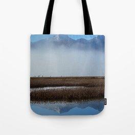Autumn Mist Reflection Tote Bag