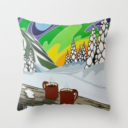 At Home in the Woods Throw Pillow