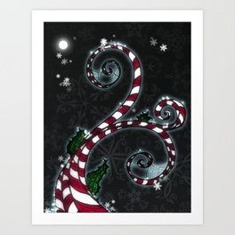 Candy Cane Vine Art Print