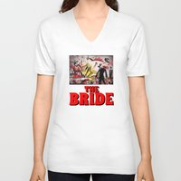 kill bill V-neck T-shirts featuring Kill Bill by Joe Badon