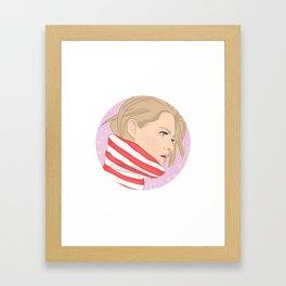 Kristen Stewart Galaxy Framed Art Print