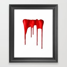 Red Splatter Framed Art Print