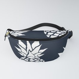 Tropical, Pineapples, Navy Blue ad White Fanny Pack