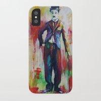 chaplin iPhone & iPod Cases featuring Charlie Chaplin by Marta Zawadzka