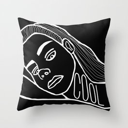 She's a Cool Girl Throw Pillow