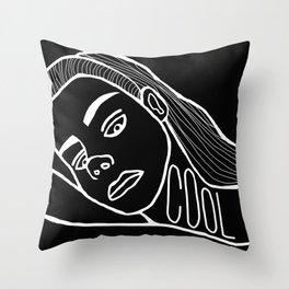 She's a Cool Girl Throw Pillow