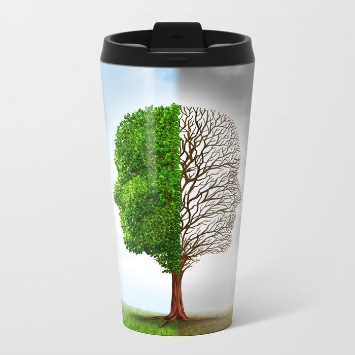 Seasons Tree Metal Travel Mug