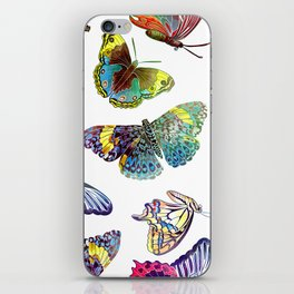 Butterfly Obsession in Blues iPhone Skin