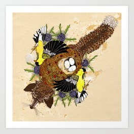 Fox and the Cradle Art Print