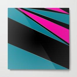 Combined geometric pattern 1 Metal Print