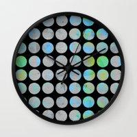 dots Wall Clocks featuring Dots  by LebensARTdesign