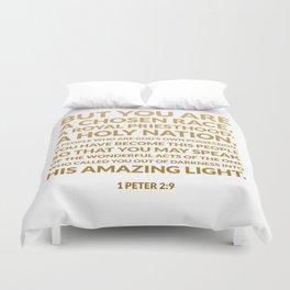 1 Peter 2:9 Duvet Cover