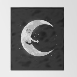 Moon Hug Throw Blanket