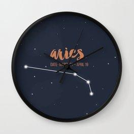 Aries coloured backgound Wall Clock