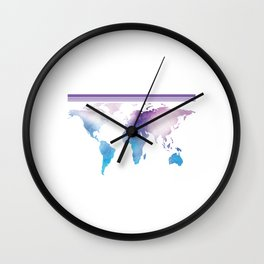 Go Find Yourself - Travel T-Shirt For Everyone, Backpacker, Traveler, Flight Catchers and Adventurer Wall Clock