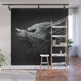 Angry Wolf Wall Mural