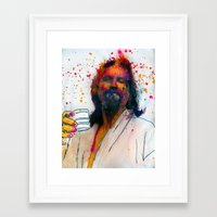 the dude Framed Art Prints featuring dude by benjamin james